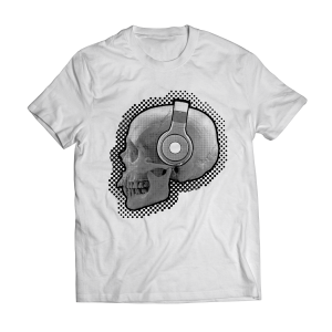 skull headphones t-shirt