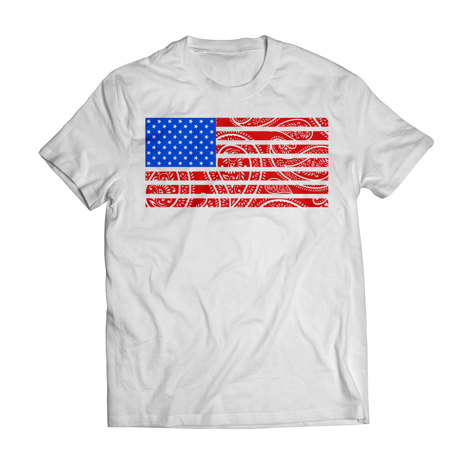 T shirt design queens ny - Big Bang Apparel American Flag Paisley T Shirt